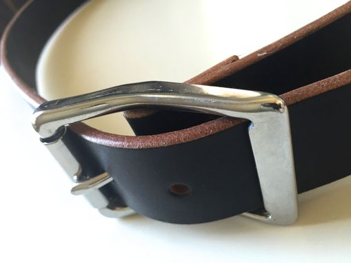 Custom Made Black Bridle Leather Belt