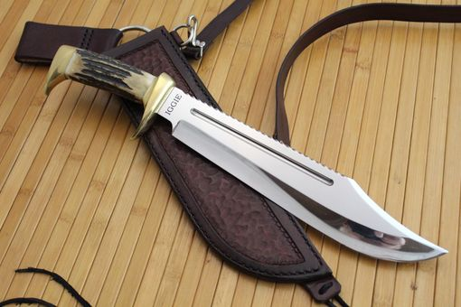 hand made custom dundee style bowie knife by cote custom