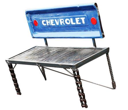 Custom Made Custom Made Upcycled Chevrolet Truck Tailgate Bench - Free Shipping