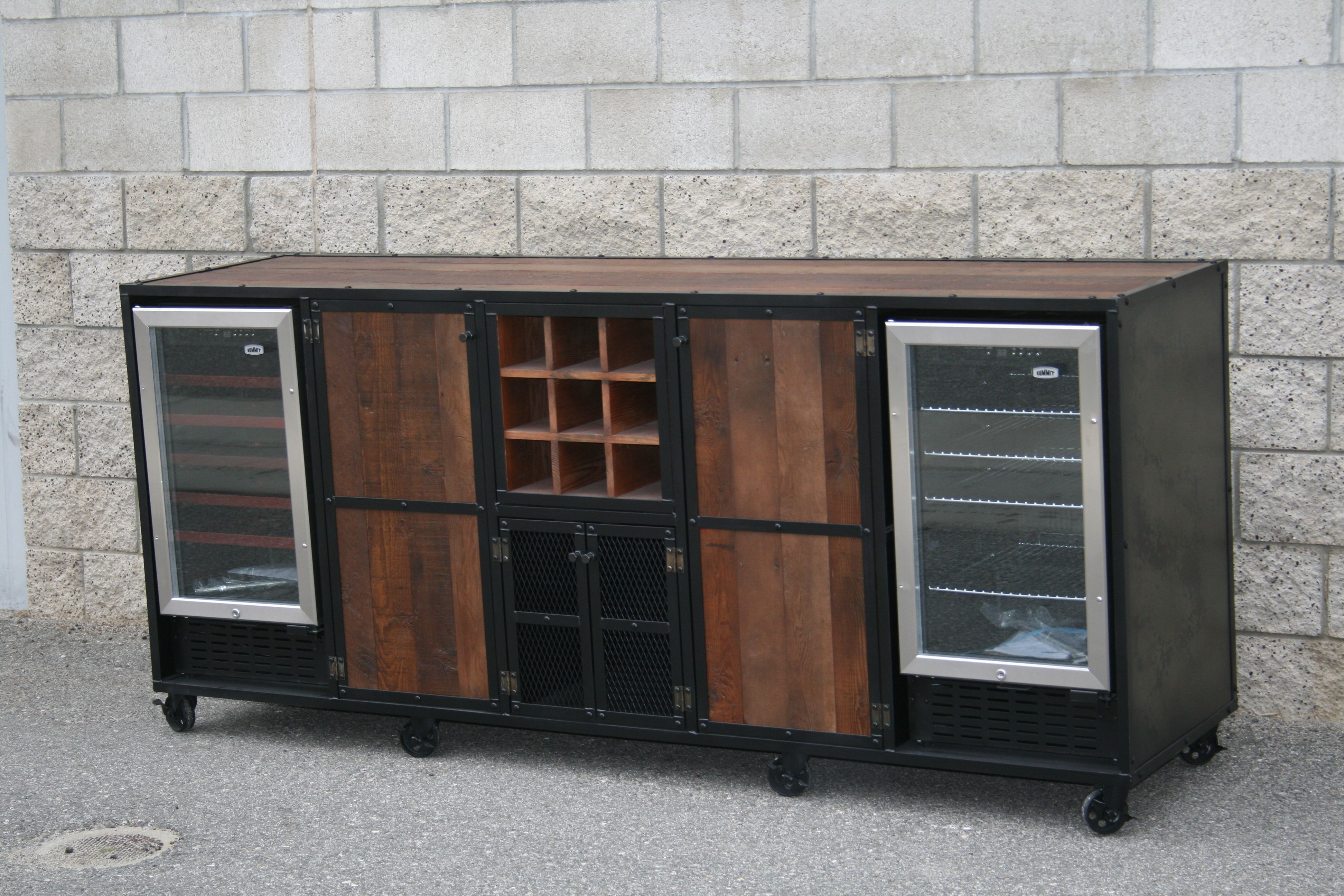 Buy a Handmade Reclaimed Wood Liquor Cabinet, Beverage Center ...