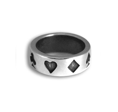 Custom Made Lucky You Ring In Sterling Silver