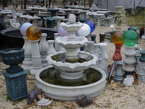Custom Made 3 Tiered Roman Or Tulip Style Fountain With Your Choice Of Tops