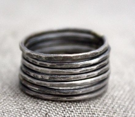 Custom Made 7 Sterling Silver Stacking Bands