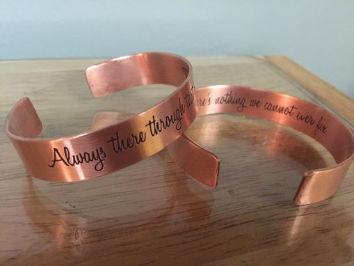 Custom Made Personalized Stamped Or Etched Cuff