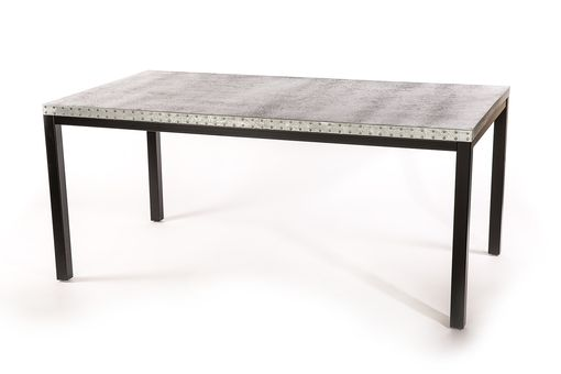 Custom Made Zinc Table  Zinc Dining Table - The Brooklyn Zinc Top Dining Table