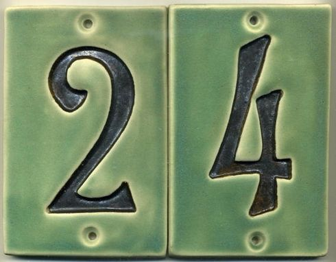 Hand Crafted Custom Made House Numbers And Address Tiles