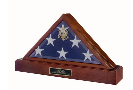 Custom Made Burial Flag Display Case