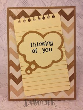"Custom Made Handmade Greeting Cards ""Thinking Of You"""