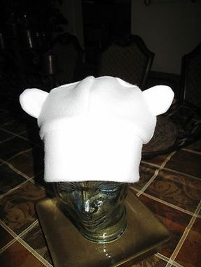 Custom Made Adventure Time Finn Ear White Fleece Beanie Hat In 6 Sizes