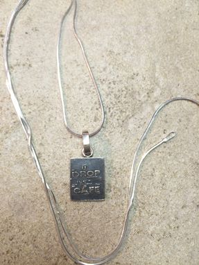 Custom Made Sterling Silver Sign Pendant