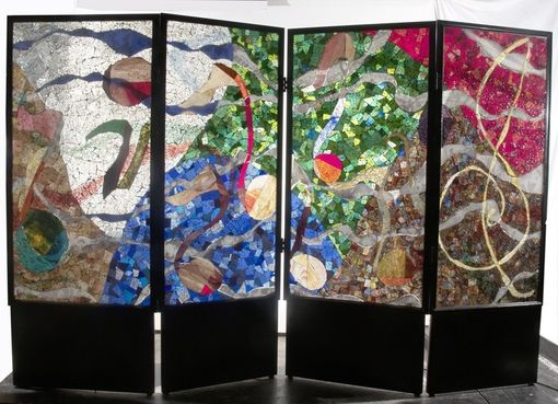 Custom Made Glass Mosaic Screen Room Divider