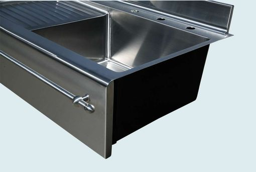 Custom Made Stainless Sink With Drainboard & Towel Bar