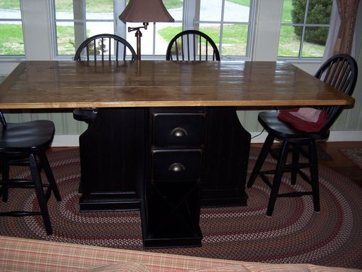 Custom Made Dining Table With Wine Rack