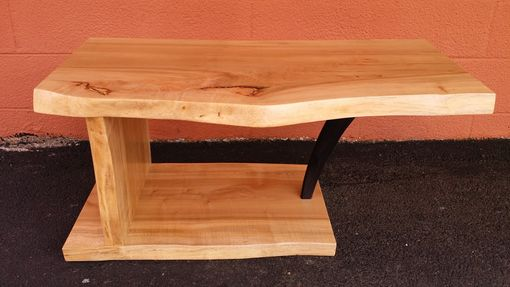 Custom Made The Cirrus - Ambrosia Maple Coffee Table Live Edge Living Room Furniture Refined Rustic