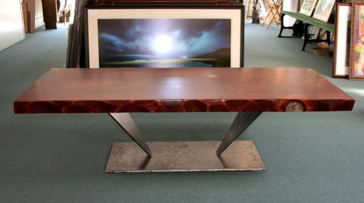 Custom Made Old-Growth Redwood Coffee Table