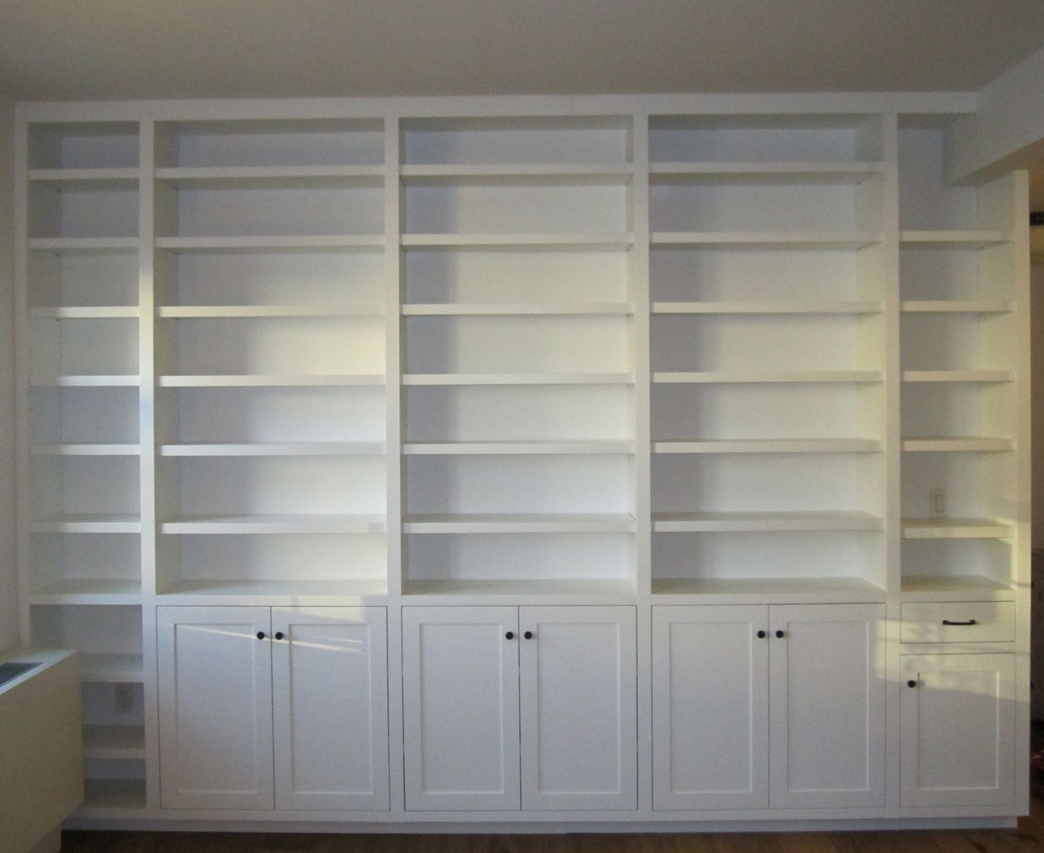 Custom Made Built In Painted Bookcase By Vermont Fine