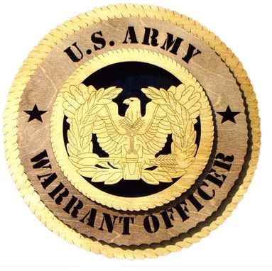 Custom Made U.S Army Warrant Officer Wall Tribute, U.S Army Warrant Officer Hand Made Gift
