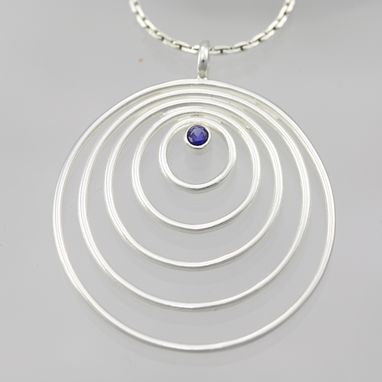 "Custom Made 5 Circle Neck With Stone (Sapphire) (18"")"