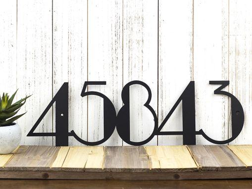 buy custom modern house numbers modern address art deco metal sign metal wall art. Black Bedroom Furniture Sets. Home Design Ideas