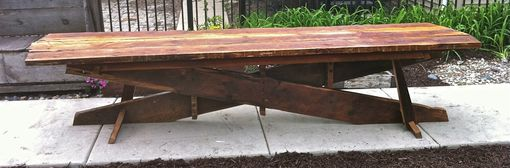 Custom Made Long Industrial X-Form Dining Table