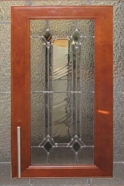 Custom Made Stained Glass Cabinet