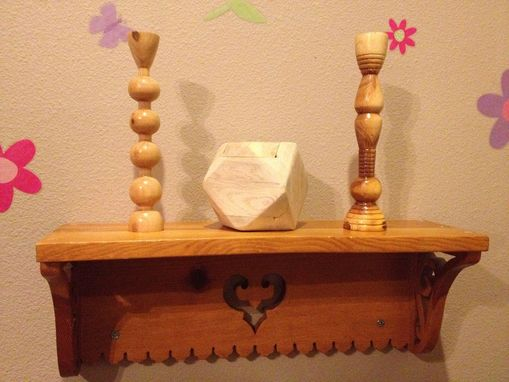 Custom Made Candlestick And Shelf