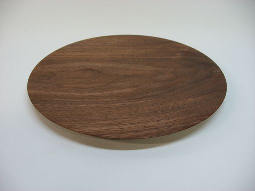 Custom Made Walnut Plate And Vase