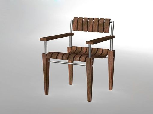 Custom Made Empire Outdoor Chair With Arms