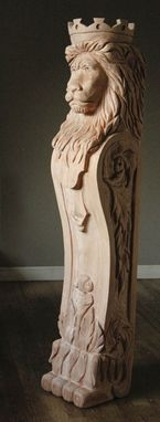 Custom Made Custom Newel Post - Custom Ornamental Carving