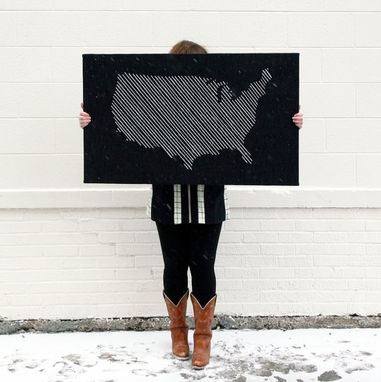 Custom Made Giant Map Embroidery