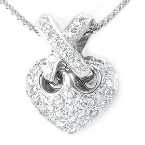 Custom Made Heart Diamond Pendant