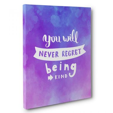 Custom Made Never Regret Being King Canvas Wall Art