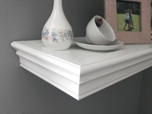 Custom Made White Floating Shelves