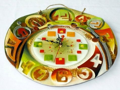 Custom Made Handmade Ceramic Clock Wall Art