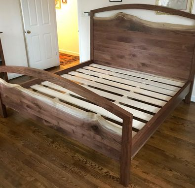 Custom Made Blue Ridge Mountain King Size Walnut Bed