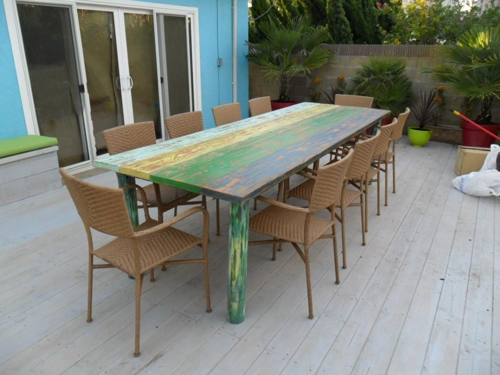 Hand Made Dining Table Multi Coloured By Oldpine