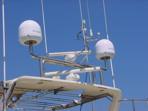 Custom Made Satellite Mast - Stainless Steel Marine Customization - Jon Koehler
