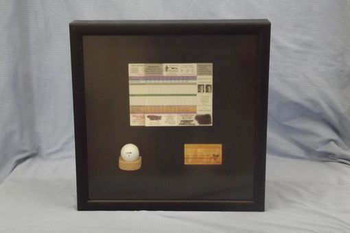 "Custom Made Golfer's ""Hole In One"" Shadow Box"