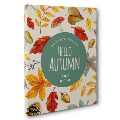 Custom Made Goodbye Summer And Hello Autumn Canvas Wall Art