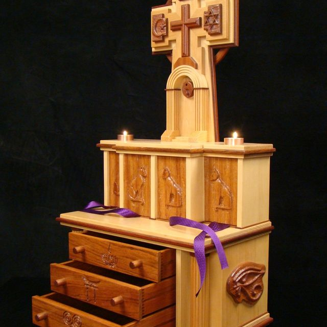 Hand Crafted Cat Crypt/ Home Altar by Kevin White Designs ...