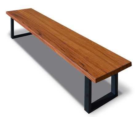 Custom Made Rustic And Exotic Wood Dining Benches