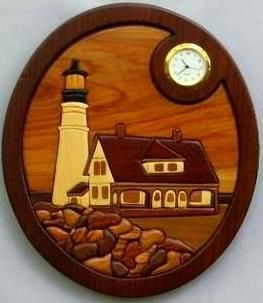 Custom Made Portland Head Lighthouse With Clock