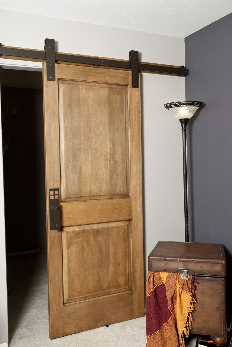 Interior Barn Door hand made interior barn door hardware: flat track installation