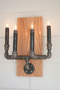 Custom Made Pipe Candelabra Sconces