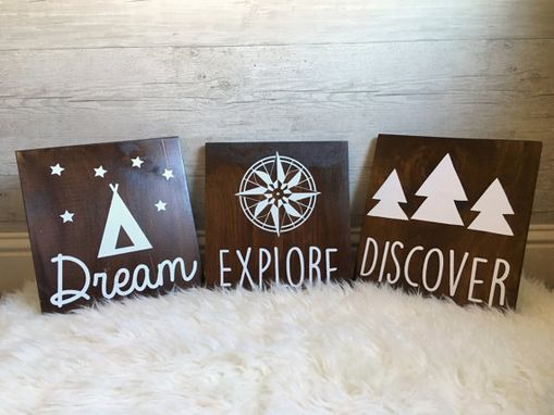 Custom Made Dream Explore Discover Set Or 3 Signs