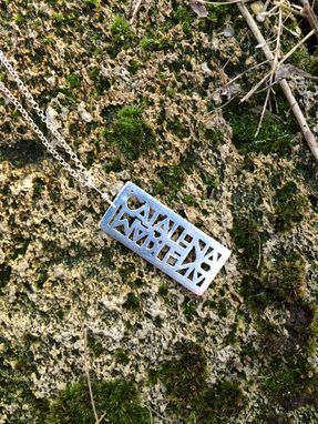 Custom Made Detailed Name Or Word Necklace/Ring