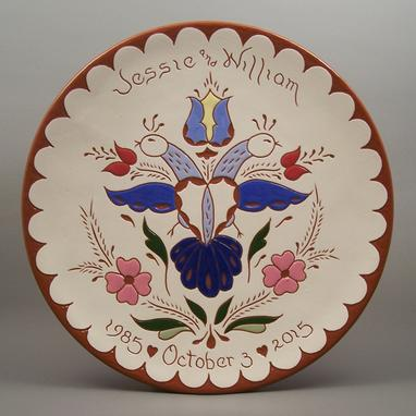 Custom Made #7-Personalized Pennsylvania Dutch Wedding Plate