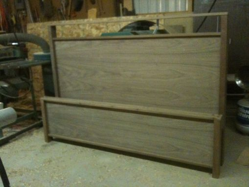 Custom Made 6 Drawer Black Walnut Platform Bed