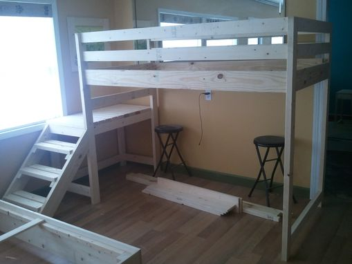 Custom Loft Or Bunk Bed With Stairs By Wholly Craft Inc