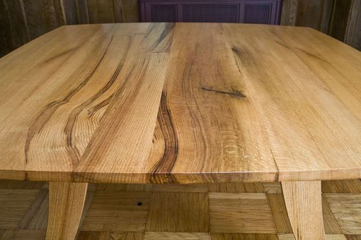 Handmade Red Oak Dining Table By Fredric Blum Design